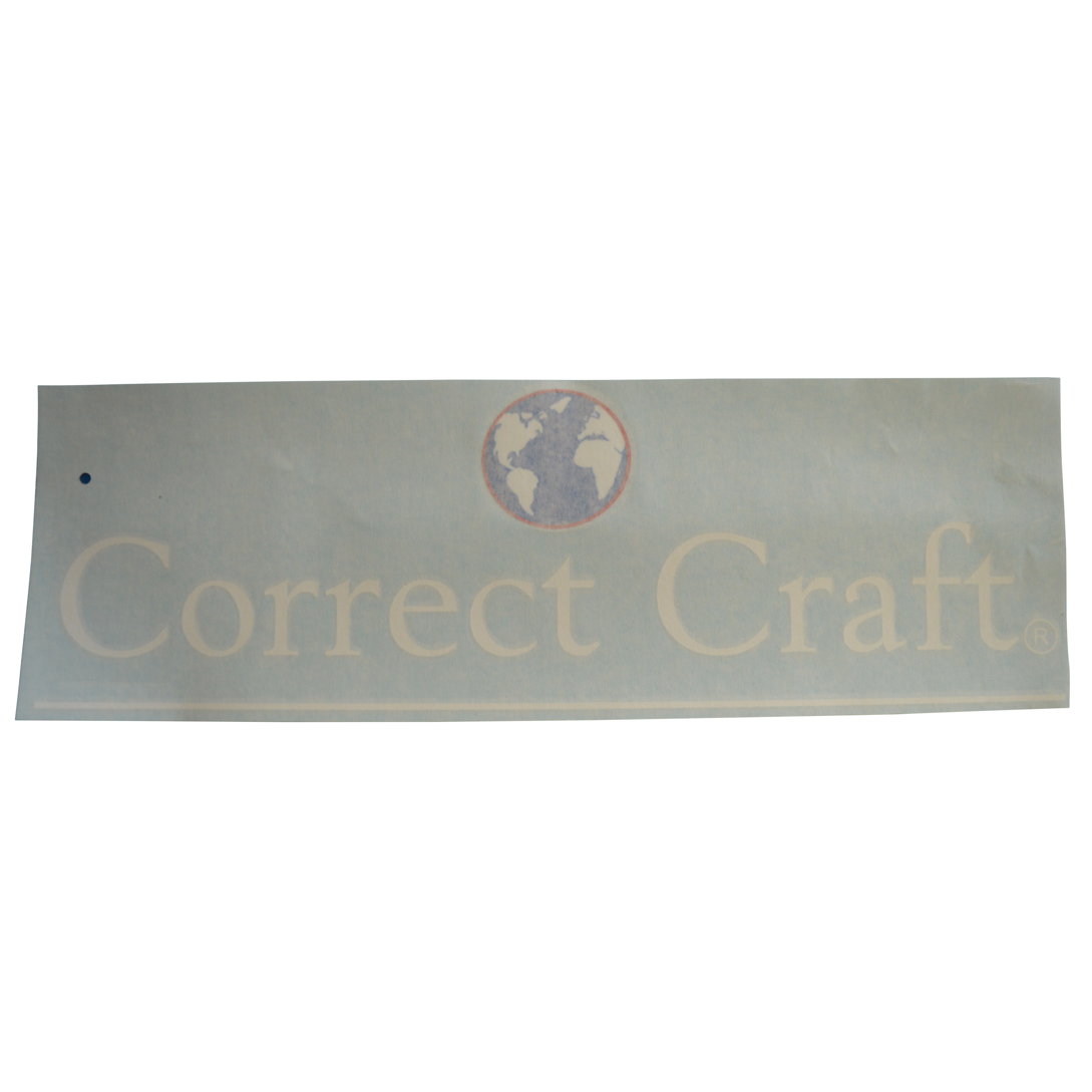 Decal correct craft w world logo nautique parts for Correct craft trailer parts